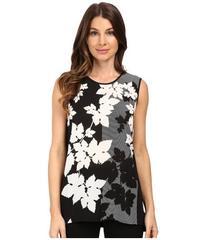 Vince Camuto Sleeveless Floral Screen Shirt Tail M