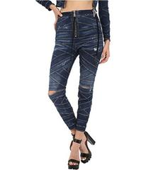 DSQUARED2 Acqua Bubble Wash/Bondage Denim Pants