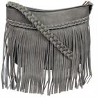 Mellow World Jenny Fringe and Braided Faux-Leather