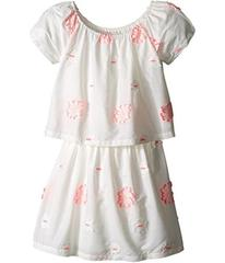 Chloe Kids White Dress with Pink Embroidery (Littl
