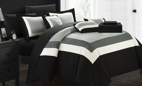 Geometric Pattern Bed in a Bag Comforter Sets (10-