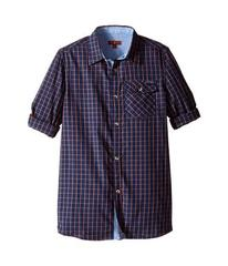 7 For All Mankind Roll-Tab Sleeve Poplin Button Up