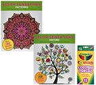 Color Sensation Set of 2 Coloring Books with Color