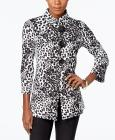 JM Collection Petite Printed Jacket, Only at Macy&