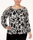INC International Concepts Plus Size Pleated Cold-
