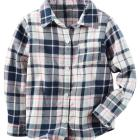 Button-Front Flannel Top