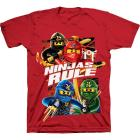"LEGO Boys Red Ninjago "" Ninjas Rule"" Printed T Shi"
