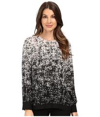 Vince Camuto Long Sleeve Shadow Textures Blouse