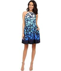 Vince Camuto Printed Scuba Sleeveless Fit and Flar