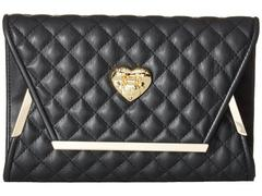 LOVE Moschino Envelope Clutch with Gold Detailing