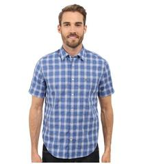 Lacoste Short Sleeve Textured Check Regular Fit Wo