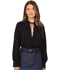 See by Chloe Embellished Crepe Long Sleeve Blouse