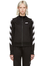 Off-White Black Sporty Logo Zip-Up