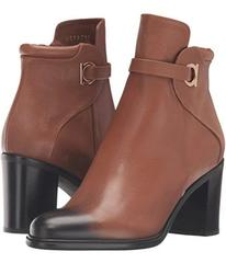 Salvatore Ferragamo Pebbled Leather Bootie with Bl