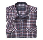 Crinkle Casual Check Camp Shirt