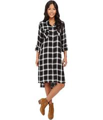 Blank NYC Plaid Long Shirtdress in Old Polaroid