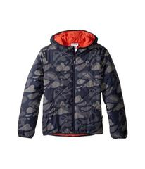 Lacoste Reversible Puffer Coat with All Over Camo