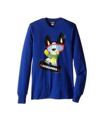 Dsquared2 Long Sleeve Skateboard Dog Graphic T-Shi