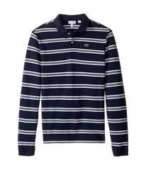 Lacoste Long Sleeve Stripe Pique Polo (Toddler/Lit