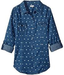 Splendid Littles Dotted Denim Shirt (Big Kids)