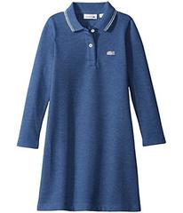 Lacoste Long Sleeve A-Line Polo Dress with Tipping