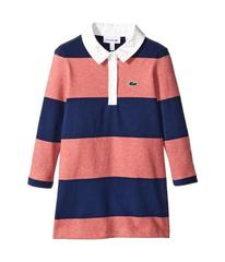 Lacoste Long Sleeve Striped Rugby Dress (Toddler/L