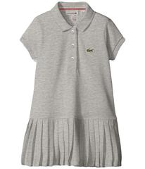 Lacoste Short Sleeve Pique Polo Dress with Pleated
