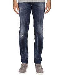 DSQUARED2 Five-Pocket Bubble Wash Slim Jeans in Bl