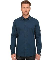 Just Cavalli Slim Fit Stone Wash Woven Shirt