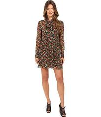 RED VALENTINO Silk Crepe with Wild Flowers Print