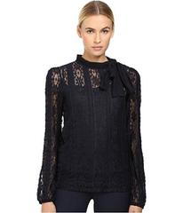 RED VALENTINO Jersey Lace Blouse