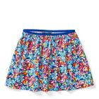 Floral Twill Pull-On Skirt