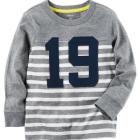 Long-Sleeve Striped Varsity Tee
