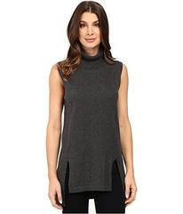 Vince Camuto Sleeveless Turtleneck Sweater with Fr