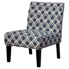 Saloon Fabric Print Accent Chair - Christopher Kni