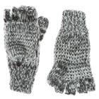 Gray Marled Convertible Mitten Gloves