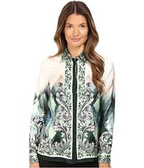 Versace Collection Long Sleeve Printed Blouse