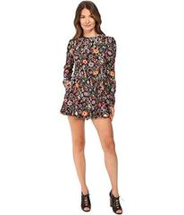 RED VALENTINO Fancy Flower Print Macrocaine Romper
