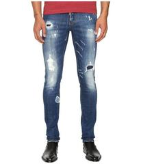 DSQUARED2 Planked Patch Destroyed Slim Jeans