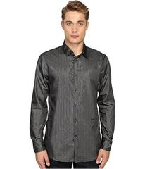 Just Cavalli Regular Fit Leather Effect Woven Shir