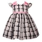 BONNIE JEAN Cap Sleeve Plaid Dress with Bow Accent