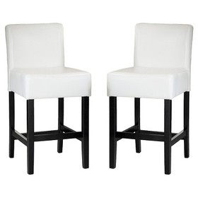 Lopez Leather Counter Stool - (Set of 2) - Christo