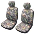 Forest Gray Camo Seat Cover Pair Combo With 2x Lic