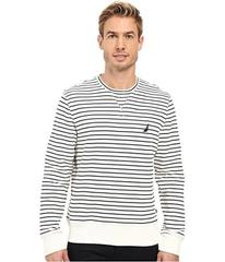 Nautica Long Sleeve Striped Front Crew