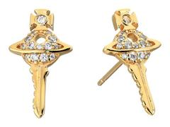 Vivienne Westwood Darianne Petite Key Earrings