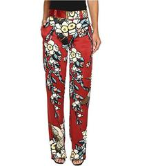 DSQUARED2 Fantasy Printed Silk Cherry Blossom Silk