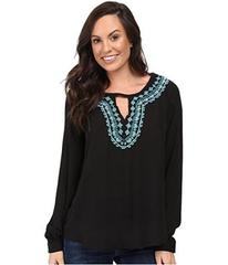 Stetson Poly Crepe Peasant Blouse