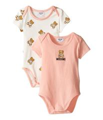 Moschino 2-Pack Short Sleeve Bodysuit Comes In Gif