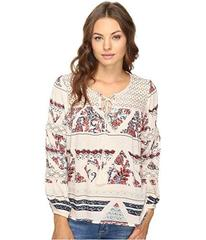 Brigitte Bailey Gizela Long Sleeve Printed Top wit