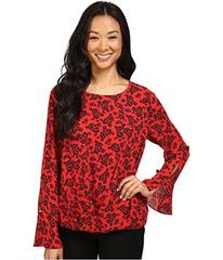 Vince Camuto Long Sleeve Bouquet Stamp Fold-Over B